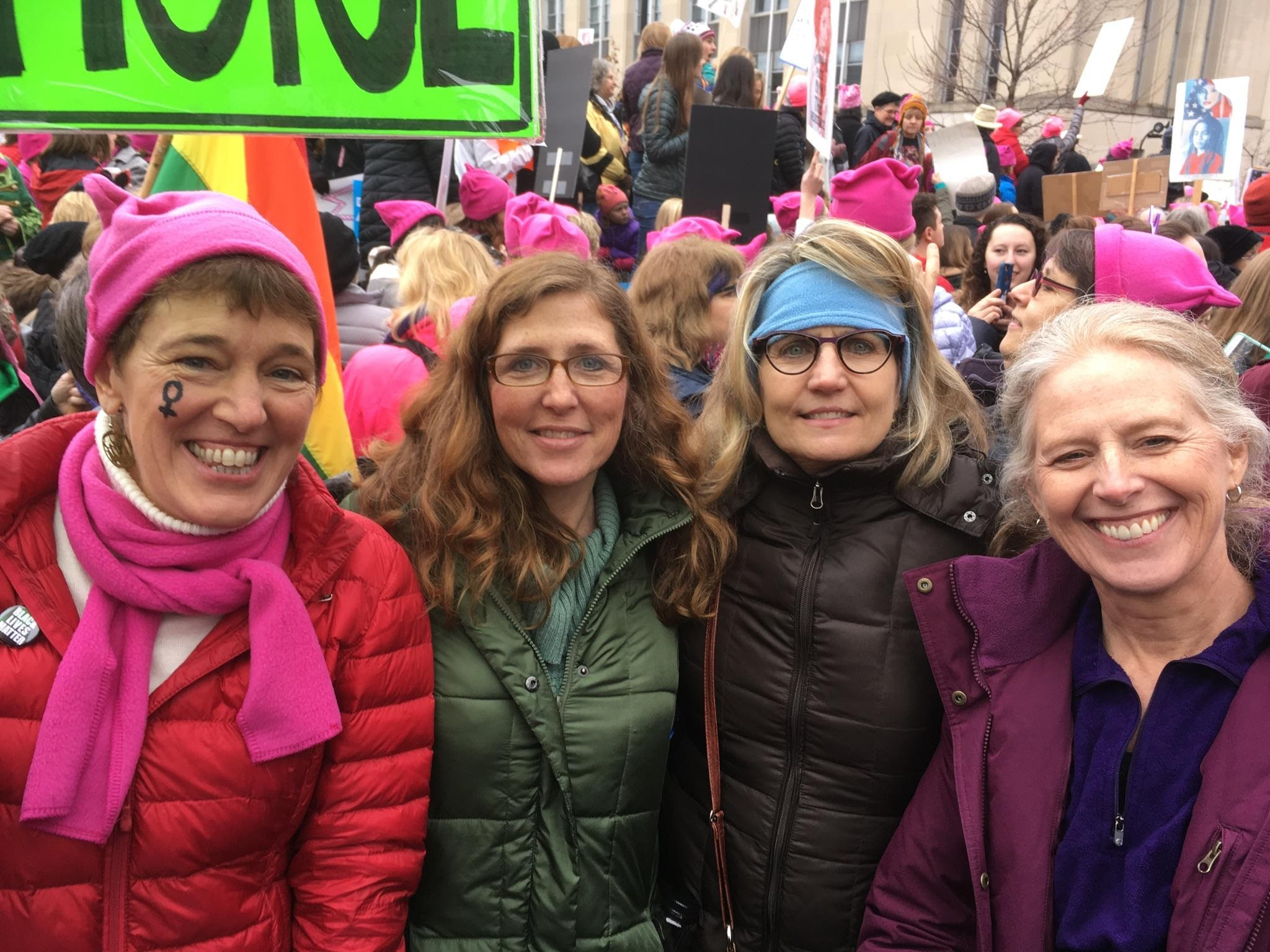 photo of women's march participants