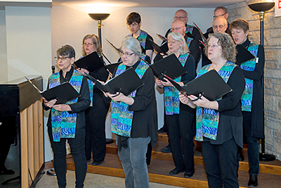 photo of the choir singing